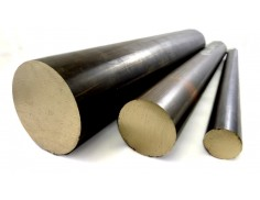 "C63000 Bronze Solid Round Bar 2-1/2"" Diameter"