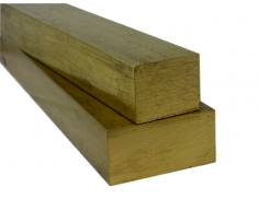 "C36000 Brass Flat Bar 1"" Thick x 2"" Wide"